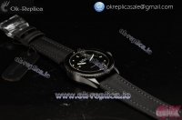 Breguet Fifty Fathoms Bathyscaphe Miyota 9015 Automatic PVD Case with Black Dial Dots Markers and Black Leather Strap -1:1 Original (GF)