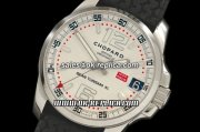 Chopard Mille Miglia Gran Turismo XL Swiss Valjoux 7750 Automatic Movement Silver Case with White Dial and Black Rubber Strap