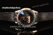 Tag Heuer Mikrogirder 2000 Chrono Miyota Quartz Steel Case with Black Dial Red Second Hand and Black Rubber Strap