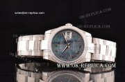 Rolex Datejust Asia 2813 Automatic Full Steel with Diamond Bezle and Gray MOP Dial