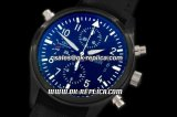 IWC Pilot Chrono Swiss Valjoux 7750 Automatic Movement PVD Case with Black Dial and Black Nylon Strap