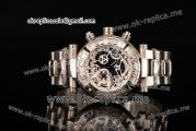 Invicta Orignial Excursion Chrono Swiss Ronda 5040 D Quartz Full Steel with Skeleton Dial and White Dot Markers