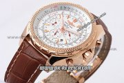 Breitling Bentley Automatic Movement White Dial with Rose Gold Case and Stick Marker