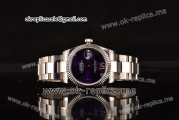 Rolex Datejust Swiss ETA 2836 Automatic Steel Case with Purple Dial and Steel Strap (BP)