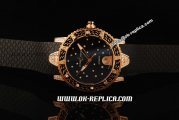 Ulysse Nardin Marine Lady Diver Automatic Movement Rose Gold Case with Black/Diamond Dial and Black Rubber Strap