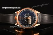 Tag Heuer Mikrogirder 2000 Chrono Miyota Quartz Rose Gold Case with Black Dial Orange Second Hand and Black Rubber Strap