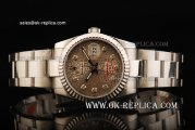 Rolex Datejust Automatic Movement Full Steel with Grey Dial and Diamond Markers