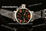 U-Boat IFO Golden Crown Automatic ST25 Movement Steel Case with Black Dial and Black Rubber Strap - Orange Markers