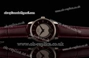 Mido Baroncelli II Swiss ETA 2824 Automatic Steel Case with Brown Dial Diamond Bezel and Brown Leather Strap