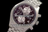 IWC Saint Exupery Chrono Swiss Valjoux 7750 Automatic Movement Silver Case with Brown Dial and SS Strap