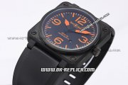 Bell&Ross BR 03-92 Limited Edition Automatic Movement PVD Case with Black Dial and Orange Marker