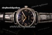 Panerai Radiomir Firenze 3 Days PAM 604 Asia Manual Winding Steel Case with Black Dial and Black Leather Strap (FF)