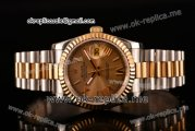 Rolex Datejust Asia 2813 Automatic Two Tone Case with Gold Dial Roman Numeral Markers and Two Tone Bracelet