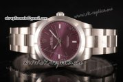 Rolex Oyster Perpetual Air King (Red Grape Oyster)Swiss ETA 2824 Automatic Steel Case with Red Grape Dial Stick Markers and  Stainless Steel Bracelet