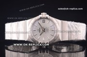 Omega Constellation Asia 2813 Automatic Full Steel with Silver Dial and Stick Markers