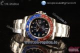 Rolex GMT-Master II Swiss ETA 2836 Automatic Steel Case with Blue Dial Dots Markers and Steel Bracelet - 1:1 Original(Summer)
