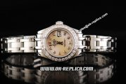 Rolex Datejust Automatic Silver Case with Diamond Bezel/Markers and Silver Strap-Lady Size