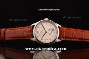 IWC Portuguese Swiss ETA 2836 Automatic Steel Case with Brown Leather Strap and White Dial with Silver Markers