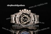 Invicta Orignial Excursion Chrono Swiss Ronda 5040 D Quartz Full Steel with Black Dial and Arabic Numeral Markers