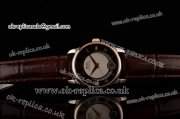 Mido Baroncelli II Swiss ETA 2824 Automatic Two Tone Case with Black Dial and Brown Leather Strap