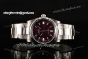 Rolex Air King Swiss ETA 2836 Automatic Steel Case with Purple Dial and Stick Markers
