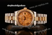 Rolex Datejust Asia 2813 Automatic Two Tone Case with Yellow Gold Dial Roman Numeral Markers and Two Tone Bracelet