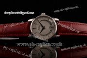 Mido Baroncelli II Swiss ETA 2824 Automatic Steel Case with White Dial and Brown Leather Strap