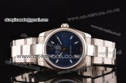 Rolex Air King Swiss ETA 2836 Automatic Steel Case/Strap with White Stick Markers and Blue Dial