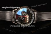 Tag Heuer Mikrogirder 2000 Chrono Miyota Quartz PVD Case with Black Dial Red Second Hand and Black Rubber Strap