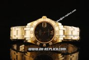 Rolex Datejust Oyster Perpetual Swiss ETA 2836 Automatic Movement Full Gold with Diamond Bezel and Chocolate Dial