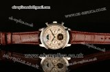 Patek Philippe Grand Complication Asia R10-Tourbillon Automatic Steel Case with White Dial Roman Markers and Brown Leather Strap