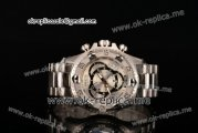Invicta Orignial Excursion Chrono Swiss Ronda 5040 D Quartz Full Steel with Silver Dial and Arabic Numeral Markers