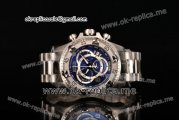 Invicta Orignial Excursion Chrono Swiss Ronda 5040 D Quartz Full Steel with Dark Blue Dial and Arabic Numeral Markers