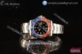 Rolex GMT-Master II Swiss ETA 2836 Automatic Steel Case with Black Dial Dots Markers and Steel Bracelet - 1:1 Original(Summer)