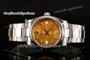 Rolex Air King Swiss ETA 2836 Automatic Steel Case with Yellow Dial and Stick Markers