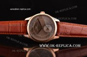 IWC Portuguese Vintage Swiss ETA 2836 Automatic Rose Gold Case with Brown Dial and Stick/Numeral Markers