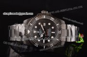 Rolex Pro-Hunter Sea-Dweller Asia 2813 Automatic PVD Bezel PVD Case Black Dial Stick Markers and PVD Strap