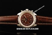 Breitling Bentley Automatic Movement Red Dial with Honeycomb Bezel and Brown Leather Strap