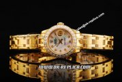 Rolex Datejust Automatic Full Gold with Diamond Bezle,White MOP Dial and Diamond Markers-Lady Size