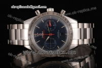 Omega Speedmaster '57 Clone Omega 9300 Automatic Full Steel with Blue Dial Stick Markers (EF)