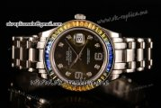 Rolex Datejust Pearlmaster Asia 2813 Automatic Steel Case with Army Green Dial Diamonds Markers and Diamonds Bezel (BP)