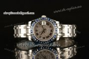 Rolex Datejust Pearlmaster 39mm Asia Automatic Steel Case with Diamond Dial Sapphire Bezel and Roman Markers