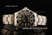 Rolex Sea-Dweller Deep Sea Oyster Perpetual Date Automatic Movement Steel Case with Black Bezel and Small Calendar