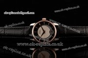 Mido Baroncelli II Swiss ETA 2824 Automatic Two Tone Case with Black Dial and Black Leather Strap