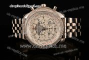 Breitling Bentley B05 Unitime Chronograph Miyota OS20 Quartz Steel Case with White Dial and Stick Markers