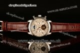 Patek Philippe Grand Complication Asia R10-Tourbillon Automatic Steel Case with White Dial Numeral Markers and Brown Leather Strap