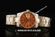 Rolex Datejust Automatic Movement Full Steel with Orange Dial and Black Roman Markers
