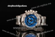 Invicta Orignial Excursion Chrono Swiss Ronda 5040 D Quartz Full Steel with Blue Dial and Arabic Numeral Markers