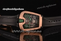 Hublot MP-05 Asia Automatic Rose Gold Case with Skeleton Dial and Black Rubber Strap